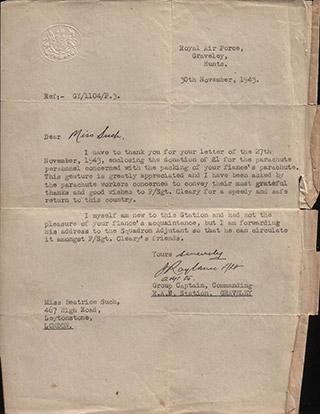 Letter, 30th November 1943