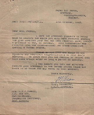 Letter 9, 15 October 1943