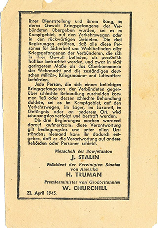 Page 121a, German leaflet