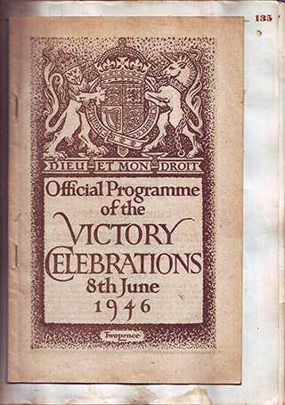 Page 126, Official Programme of the Victory Celebrations 8 June 1946