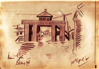Page 31, Main Gate, Stalag IVB 23rd April 1945
