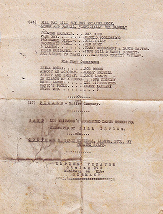 Page 39a, cast list