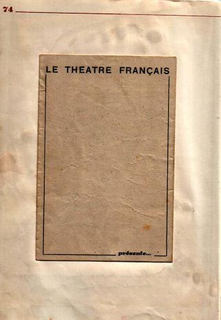 Page 53, Theatre Francais programme