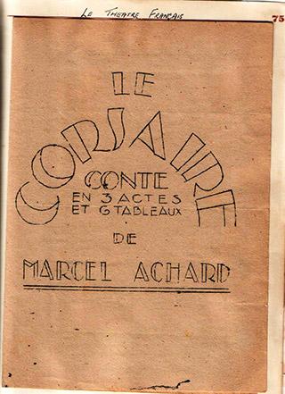Page 54, Theatre Francais programme