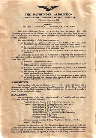 Page 98, The Pathfinder Association, membership details